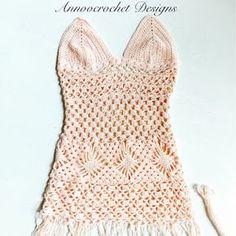 Boho Blush Beach Dress Free Tutorial By AnnooCrochet Designs Here is a Fun Summer Beach Dress that I ...