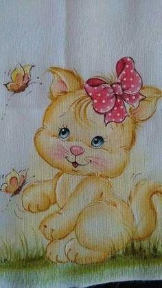 Resultado de imagem para pintura em tecido de bichinhos
