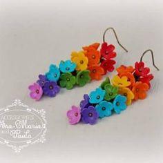 Cercei rainbow - handmade with love by Ana Maria and Paula Rainbow, Handmade, Jewelry, Rain Bow, Rainbows, Hand Made, Jewlery, Jewerly, Schmuck