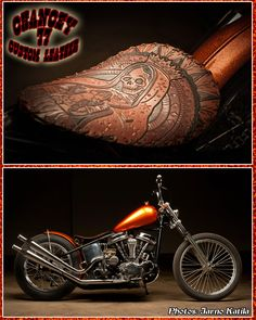 Chancey 77 Custom Leather_ Custom motorcycle seat  Mycket fin sadel och färg på mc,