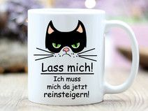Geschenk Tasse Kaffeetasse Reinsteigern Katze