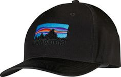 Patagonia '73 Logo Roger That Hat - Black Baseball Caps