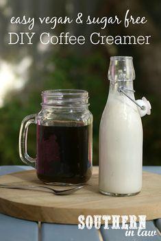 Sugar Free Coffee Creamer, Healthy Coffee Creamer, Homemade Coffee Creamer, Coffee Creamer Recipe, Healthy Vegan Snacks, Paleo Vegan, Healthy Recipes, Vegetarian, Vitamix Recipes