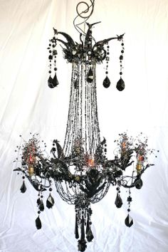 Glam can be 'green.' Upcycled content bespoke Regency chandelier by Magpie Art Collective. http://www.magpieartcollective.com/#