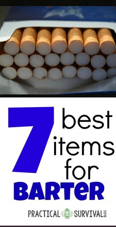 Here are 7 of the very best products to stock up on in order to barter in a shtf situation. Make sure your emergency preparedness supplies and bug out bag gear includes these survival barter items. Survival Blog, Urban Survival, Homestead Survival, Survival Tools, Survival Prepping, Survival Stuff, Survival Shelter, Survival Clothing, Survival Items