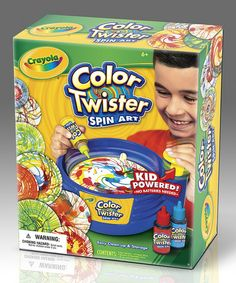 Color Twister Spin Art Kit by Crayola - Let creative cuties put their own spin on art with this colorful spin art kit! Super simple to operate, it's completely kid-powered, so each piece is unique and truly their own. $9.99 on Zulily