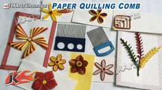 Paper Quilling Comb Tool and How to use  -  JK Arts 468
