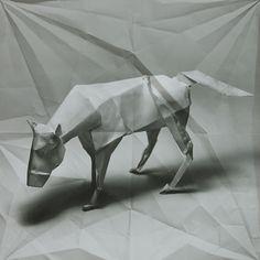 Enjoying Marc Fichou's origami characters.