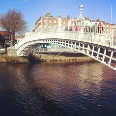 The Ha'penny (Liffey) Bridge, Dublin, Ireland, 1816