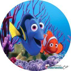 Taartentoco Eetbare print Nemo en Dory Rond