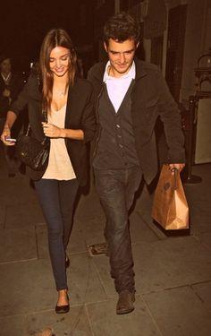 Miranda Kerr and Orlando Bloom. They should win most beautiful couple award.