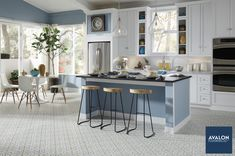 Vinyl sheet flooring can turn your kitchen into a dream kitchen!