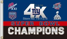 Free shipping 3 x 5ft New York Giants NFL Super Bowl Champions Flag hot sell goods Banner  #Dubnation #Raiders #MLB #Cubs