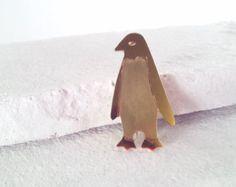 Penguin Brass Brooch