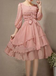 Cute Fashion, Hair Cuts, Chiffon, Victorian, Dresses With Sleeves, Female, Lace, Long Sleeve, Stitching