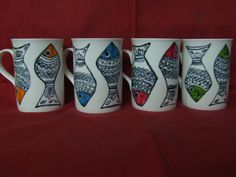 Madhubani Fish on Coffee Mugs
