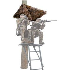 River S Edge Spin Shot 17 Swivel Ladder Treestand Re623