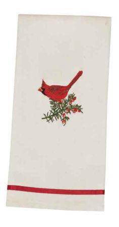 Male Cardinal Guest Towel