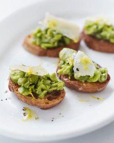 Fava Bean Crostini