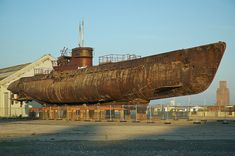 dry docked submarine