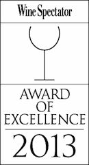 We have been awarded the Wine Spectator award for multiple years in a row