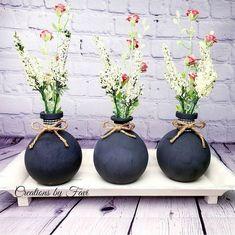 Diy Apartment Decor, Painted Jars, Tray Decor, Glass Vase, Instagram, Home Decor, Decoration Home, Painted Pots, Room Decor