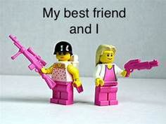 My best friend and I when a person is mean to one of us