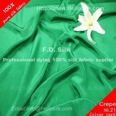 http://www.silkfabricwholesale.com/12mm-silk-crepe-de-chine-fabric-emerald-green.html  F.D. silk most professional 12mm silk crepe de chine fabric-emerald-green supplier.