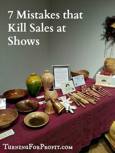 Craft Fairs are challenging. Customer relations, product display, and more must … Craft Fairs are challenging. Customer relations, product display, and more must be done. Here are 7 tips to help you avoid common selling mistakes at shows. Craft Show Booths, Craft Booth Displays, Craft Show Ideas, Display Ideas, Craft Stall Display, Displays For Craft Shows, Pottery Booth Display, Salon Des Artisans, Scentsy