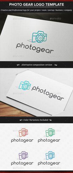 Photo Gear Camera Equipment Logo Template - Objects Logo Templates