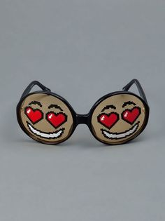 LINDA FARROW PROJECTS Smiley face in love Sunglasses