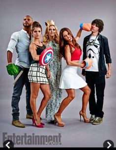 Eliza Taylor, Lindsey Morgan, Marie Avgeropoulos, Ricky Whittle and Devon Bostick #The100 #SDCC ♥