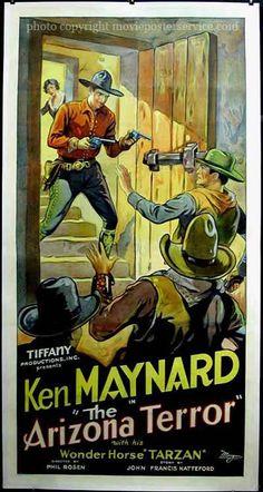 The Arizona Terror Phil Rosen, dir. Vintage Movies, Vintage Posters, Tiffany Presents, Alice Day, Old Western Movies, Ink Pen Art, Vintage Banner, Hooray For Hollywood, Cowboy Art