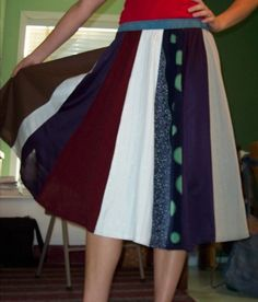 paneled skirt tutorial -- use for Dalek skirt
