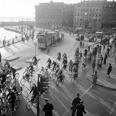 Cyklister vid Kornhamnstorg
