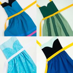 Disney Frozen deluxe princess Elsa and Anna dress up apron set for toddlers and little girls