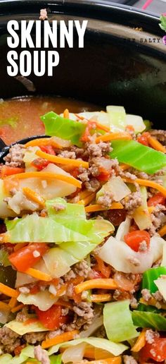 Beef cabbage soup is a hearty, delicious, and low carb soup option that is easy to make over the stove or in a crock pot. Full of healthy vegetables and beef stock, you will love this cabbage soup wit Beef Cabbage Soup, Cabbage Recipes, Cabbage Casserole, Healthy Soup Recipes, Diet Recipes, Cooking Recipes, Recipies, Clean Eating, Healthy Eating