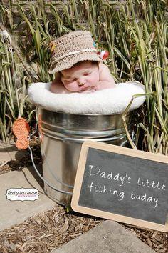 Crochet Fishing Hat & Fish Baby Photo Prop by gammyshouse on Etsy, $24.00