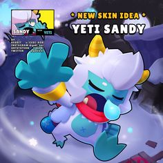 New skin idea for Sandy! By: gedi_kor Star Character, Game Character Design, Star Wars, Star Comics, Star Wallpaper, Free Gems, Star Pictures, Cartoon Games, New Skin