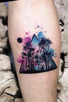 Ich liebe Aquarell-Tattoos Source tattoo designs, tattoo, s Dreieckiges Tattoos, Bild Tattoos, Finger Tattoos, Body Art Tattoos, Small Tattoos, Sleeve Tattoos, Tattoos For Guys, Cool Tattoos, Tatoos