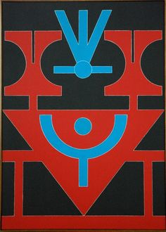 Rubem Valentim. Emblema 89. 70x50 cm