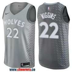 1eaf1dbb7 spain mens nike minnesota timberwolves 22 andrew wiggins gray nba swingman  city edition jersey 1829d c39c9