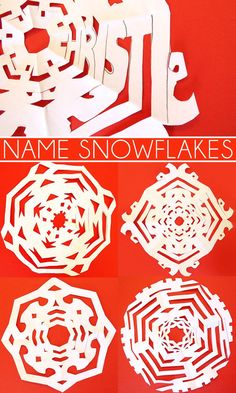 Cool Ideas for Kids: Name Snowflakes provide a fabulous integration of art and math, a great STEAM challenge.