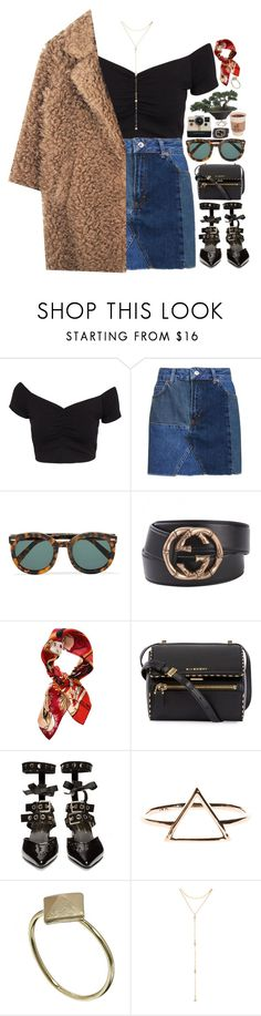 """""""Waste a Moment"""" by christinethedaae ❤ liked on Polyvore featuring NLY Trend, Topshop, Karen Walker, Polaroid, Gucci, Christian Dior, Givenchy, Robert Clergerie, Orelia and Fragments"""