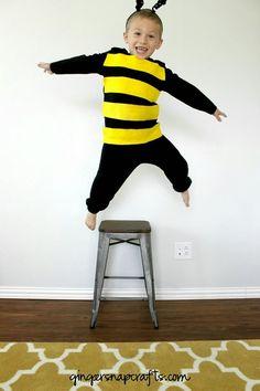 No Sew Bee Costume {tutorial}                                                                                                                                                                                 More