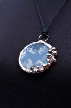 Magnifying Glass Pendant Looking Glass Necklace by BayouGlassArts, $52.00