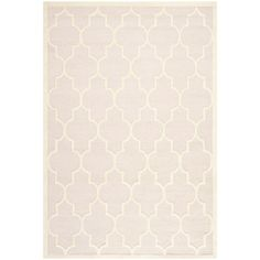 Safavieh Handmade Moroccan Cambridge Light Pink/ Ivory Wool Rug (6' x 9') - Overstock™ Shopping - Great Deals on Safavieh 5x8 - 6x9 Rugs