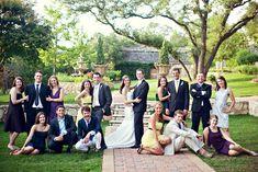 Wedding Party posing