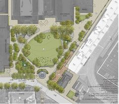 01—PLAN-RENDER « Landscape Architecture Works | Landezine Landscape Architecture: Andropogon Associates Location: University of Pennsylvania, Philadelphia, PA Completed: September 2012