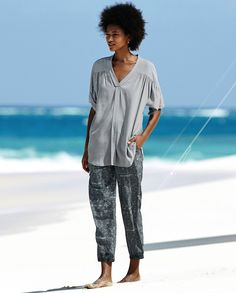 Poetry Fashion - Relaxed silk trousers